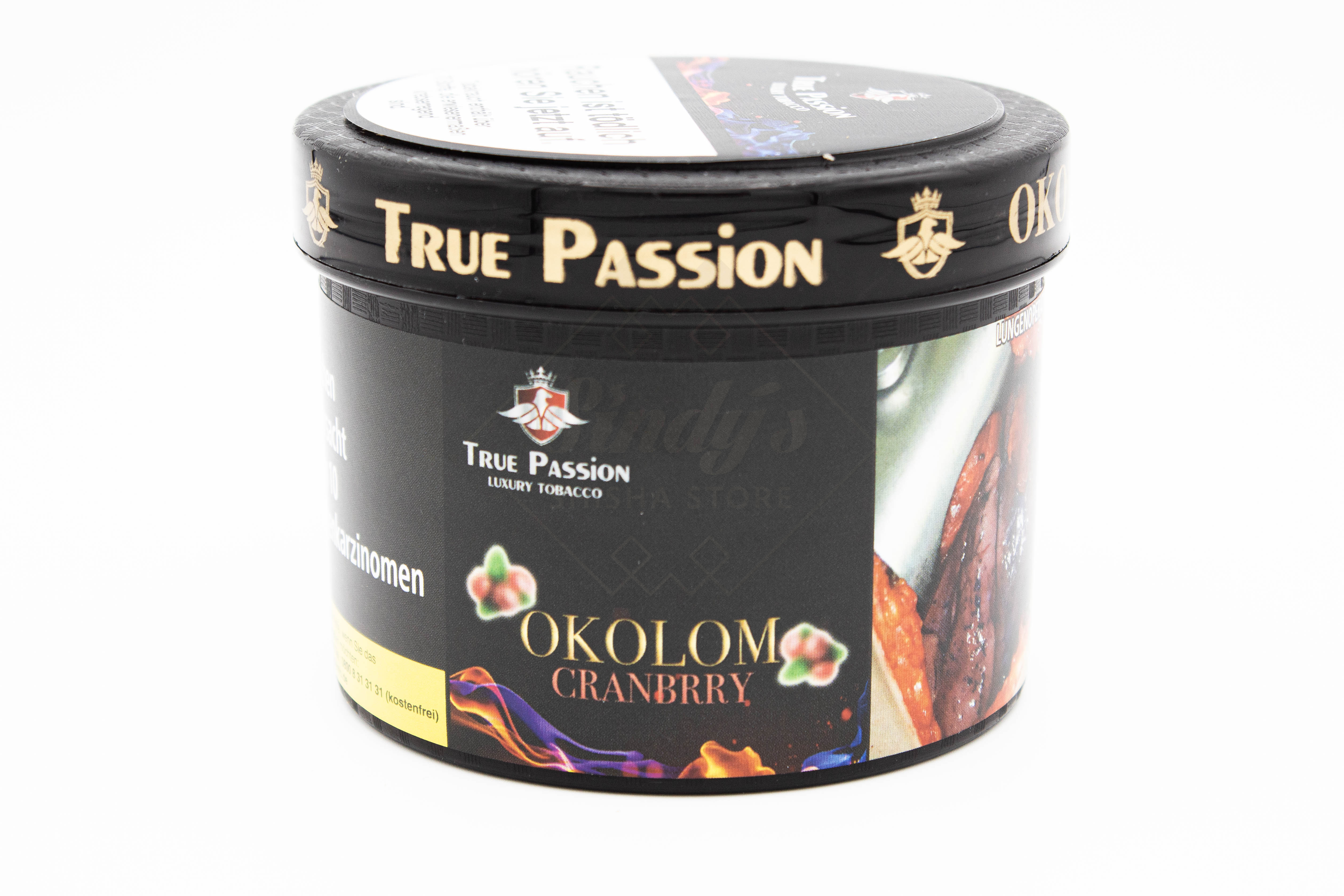True Passion Tobacco -Okolom Cranberry 200g